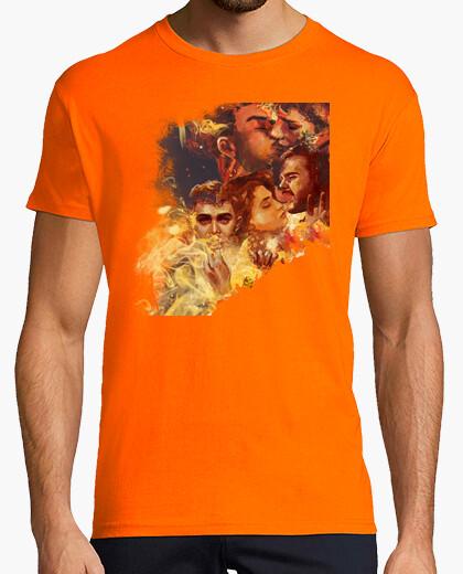 Camiseta Hombre, manga corta, naranja, calidad extra