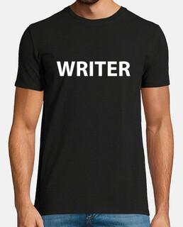 Hombre, manga corta, negra, calidad extra - Writer