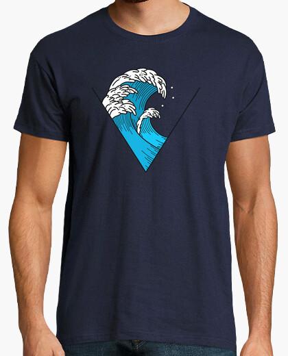 Camiseta Hombre, manga corta, Ola Triangulo