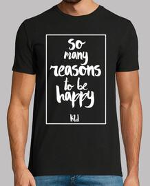 Hombre, manga corta, So many reasons to be happy