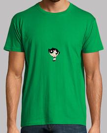 Hombre, manga corta, verde pradera, calidad extra
