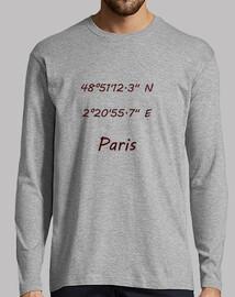 Hombre, manga larga, gris vigoré Coordenadas Paris