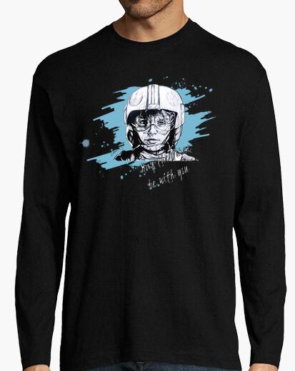 Camiseta Hombre, manga larga, negra