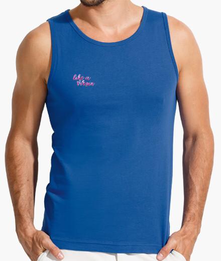 Camiseta Hombre, sin mangas, azul royal