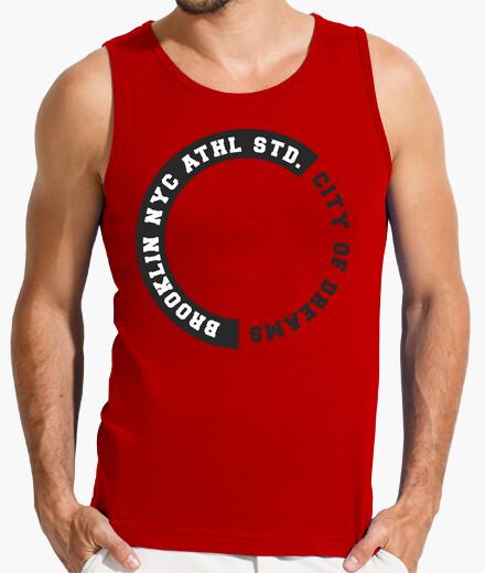 Camiseta Hombre, sin mangas, roja