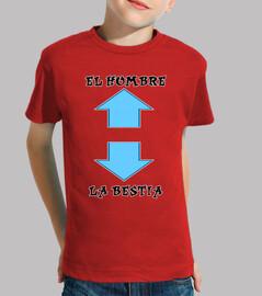 Hombre y Bestia - Camiseta Niño