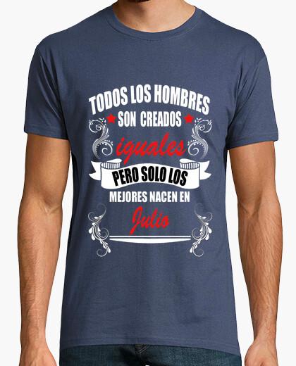 Camiseta Hombres iguales mejores Julio