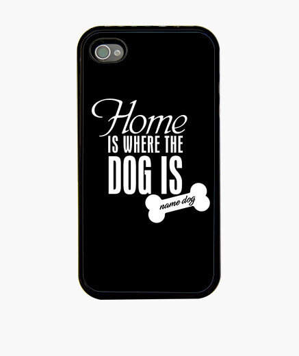 Funda iPhone home_is_where_the_dog