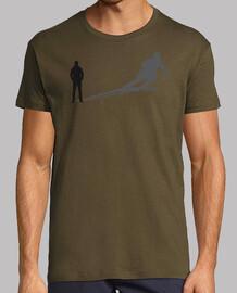 homme de ski ombre