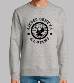 Homme, sweat, gris vigoré