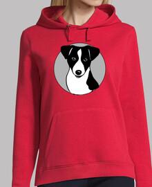 Hooded girl dog model