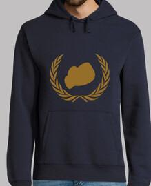 hooded sweatshirt boxing man, navy blue