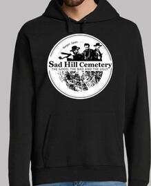 hoodie man sad hill logo