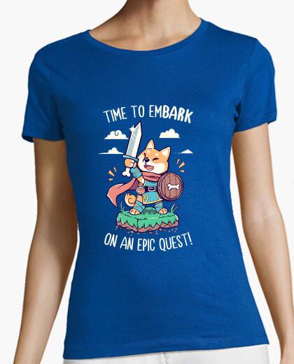 Camiseta hora de embarcarse en una búsqueda épica - camisa de mujer