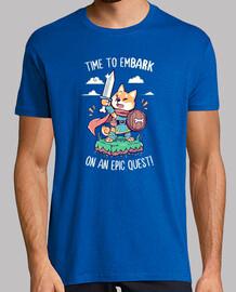 hora de embarcarse en una búsqueda épica - camisa para hombre