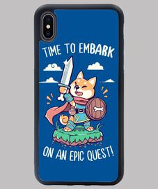 hora de embarcarse en una búsqueda épica - iphone case