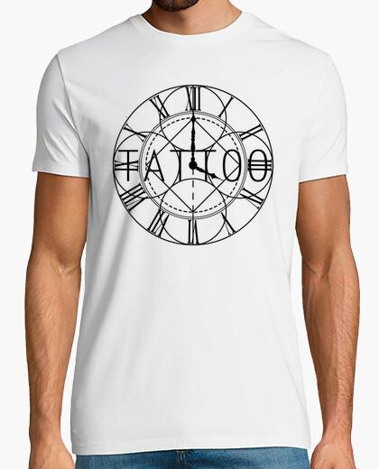 Camiseta Hora de tatuar, tattoo, tatuaje reloj numeros romanos watch design elegant Hombre, manga corta, blan