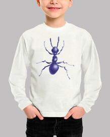 hormiga púrpura dibujada