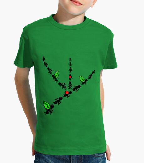 Ropa infantil Hormigas! Niño, manga corta, verde