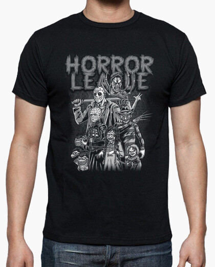 Horror League Retro Evil Film Characters T-shirt