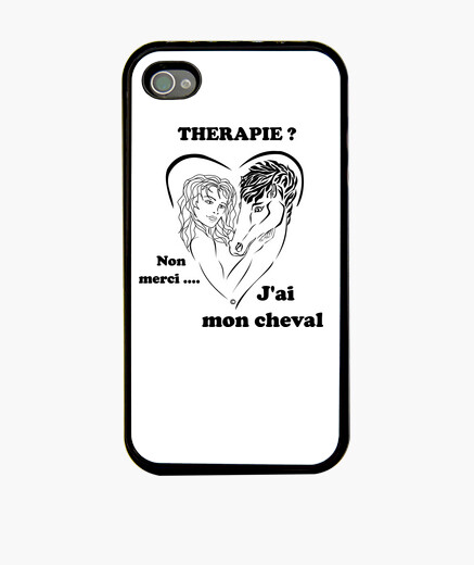 Horse therapy background light hull iphone cases