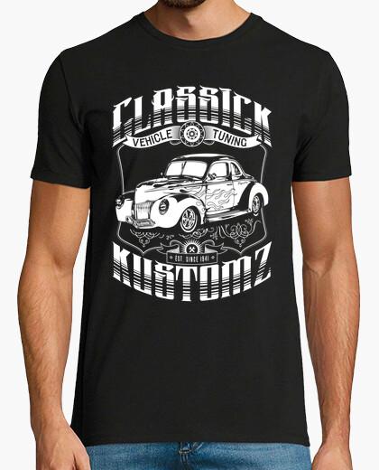 Tee-shirt hot rod - classick kustomz (blanc)
