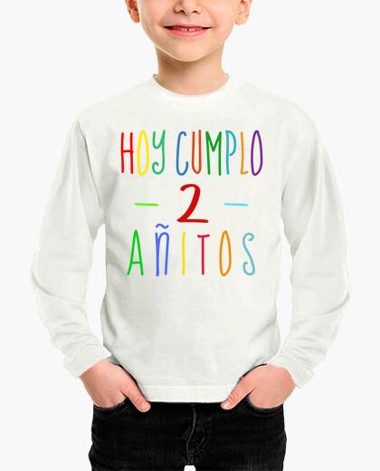 Ropa infantil Hoy cumplo 2 años - camiseta de segundo cumpleaños niño o niña