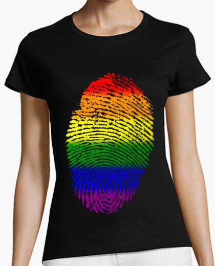 Camiseta Huella Bandera Orgullo / Bandera LGBTI