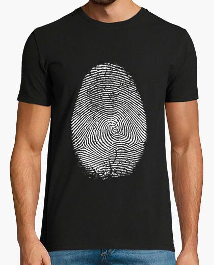 Camiseta HUELLA DIGITAL NEGRA