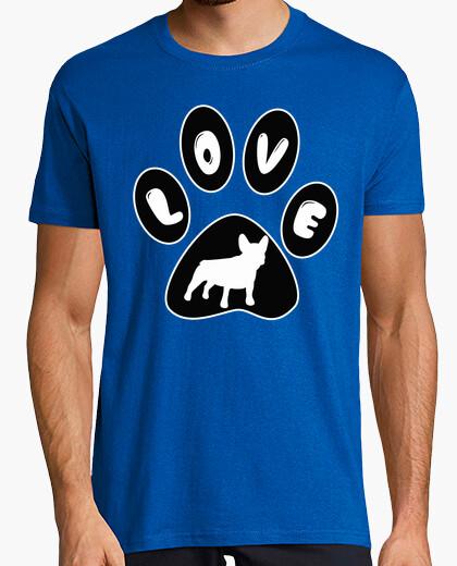 Camiseta Huella LOVE bulldog francés