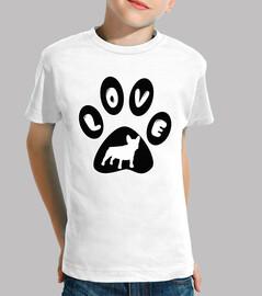 Huella LOVE bulldog francés