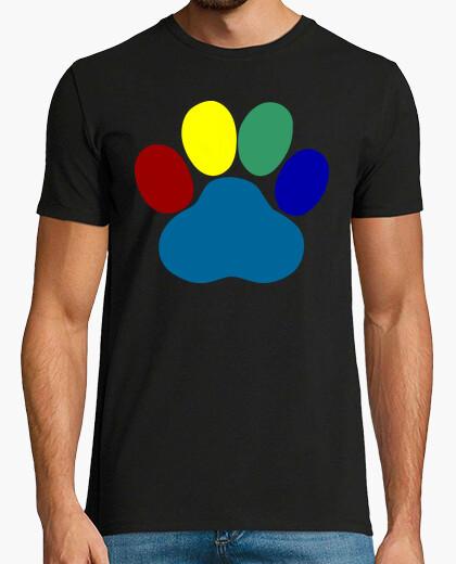 Camiseta Huella multicolor