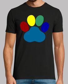 Huella multicolor