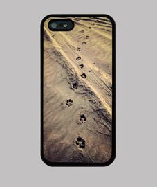 Huellas - iPhone 5 / 5s, negra