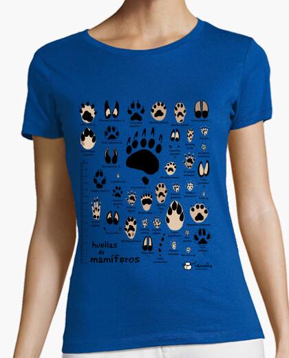 Camiseta Huellas de mamíferos ibéricos científico