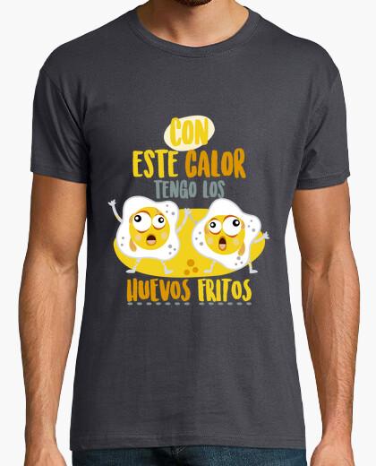 Camiseta Huevos fritos! Hombre, manga corta, gris ratón, calidad extra