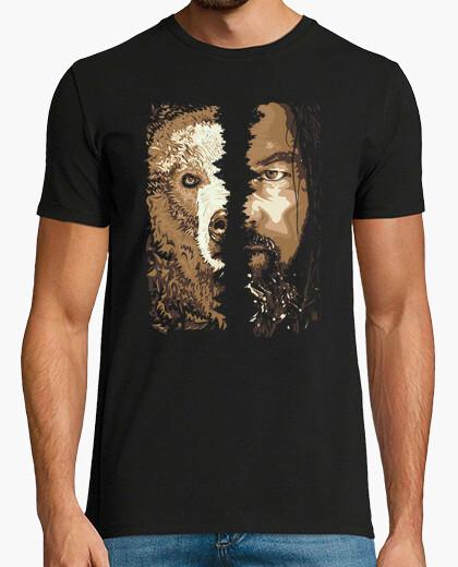 Camiseta Hugh Glass y Oso Grizzly (El Renacido)