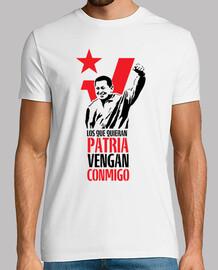 Hugo Chavez. Quienes quieran patria vengan conmigo