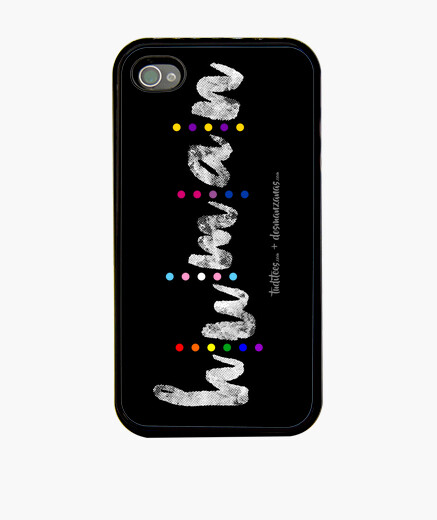 Human (vertical white) iphone cases