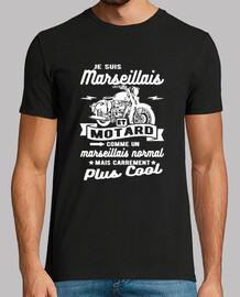 Humor de Marsella y motorista