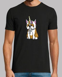 Hund englische Bulldogge einzigartig rn
