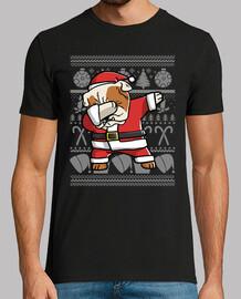 hund englische bulldogge tupfen verkleidung weihnachten