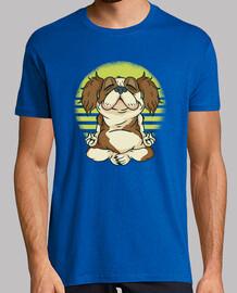 hund t-shirt meditaitin