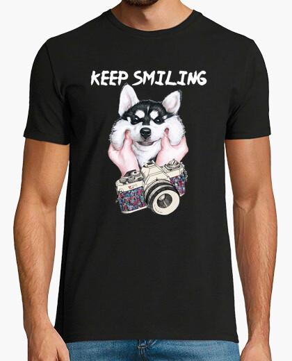 Camiseta Husky Smiling