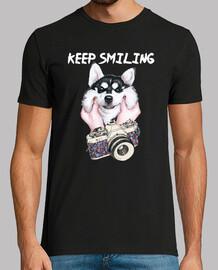 Husky Smiling
