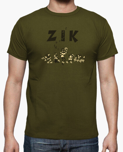 Hv / zik band army by stef t-shirt