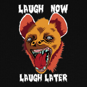 Camisetas Hyena Laugh Now Yellow Red