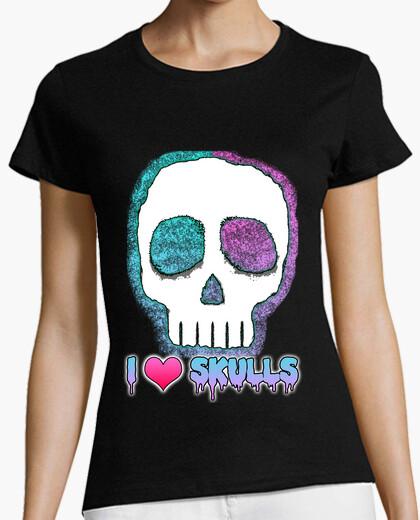 Tee-shirt i aime  têtes de mort
