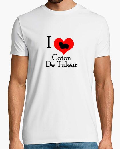 Tee-shirt i aime coton de tulear