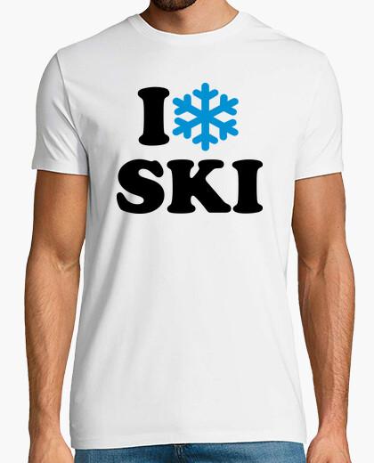 Tee-shirt i aime la neige ski